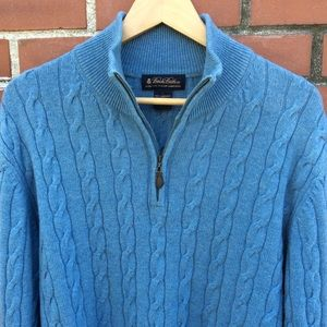 Brooks Bros. Cable-knit 1/4 Zip Pullover - Lg